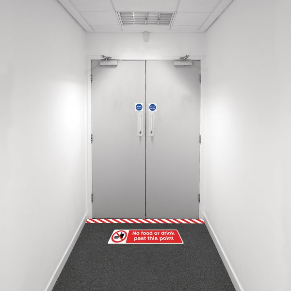 Safety Zoning Floor Marking Kits - No Food Or Drink