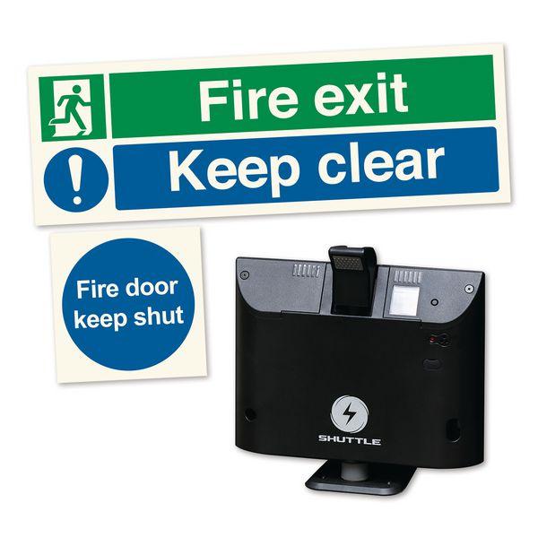 Sonicco Fire Door Retainer & Signs Kit