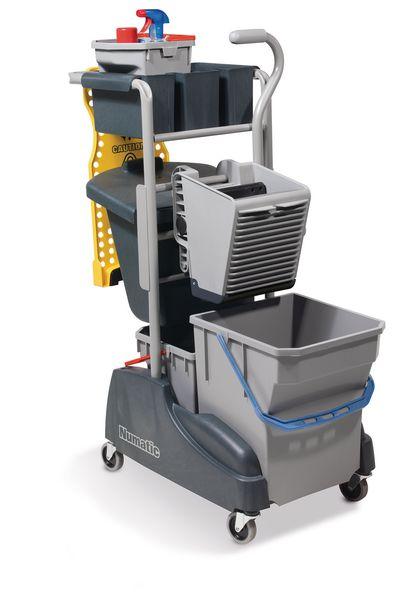Numatic Twin Mop Cleaning Trolley With Waste Bin