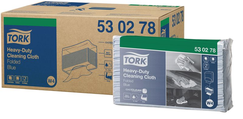 Tork® Folded Cleaning Cloths - Heavy Duty