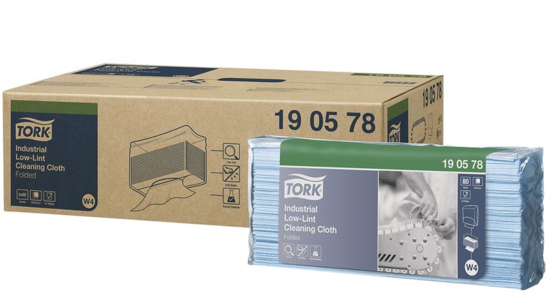 Tork® Folded Cleaning Cloths - Industrial Low-Lint
