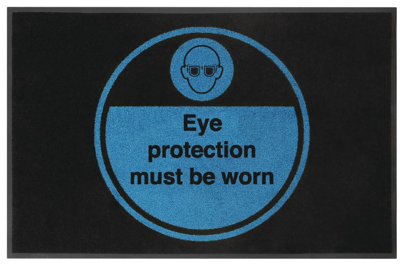 Eye Protection Must Be Worn Highly Visible Mats