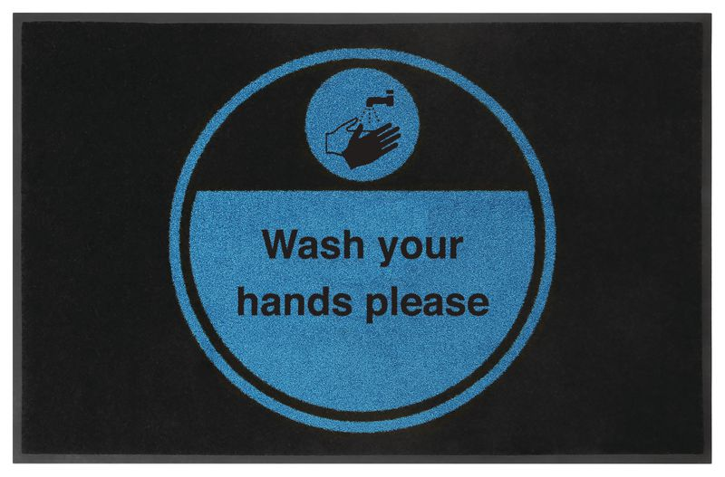 Wash Your Hands Please Highly Visible Mats