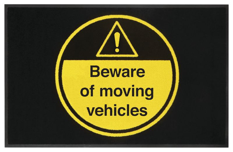 Beware of Moving Vehicles Highly Visible Mats