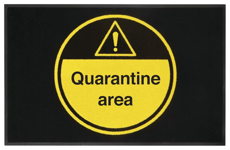 Quaratine Area Highly Visible Mat