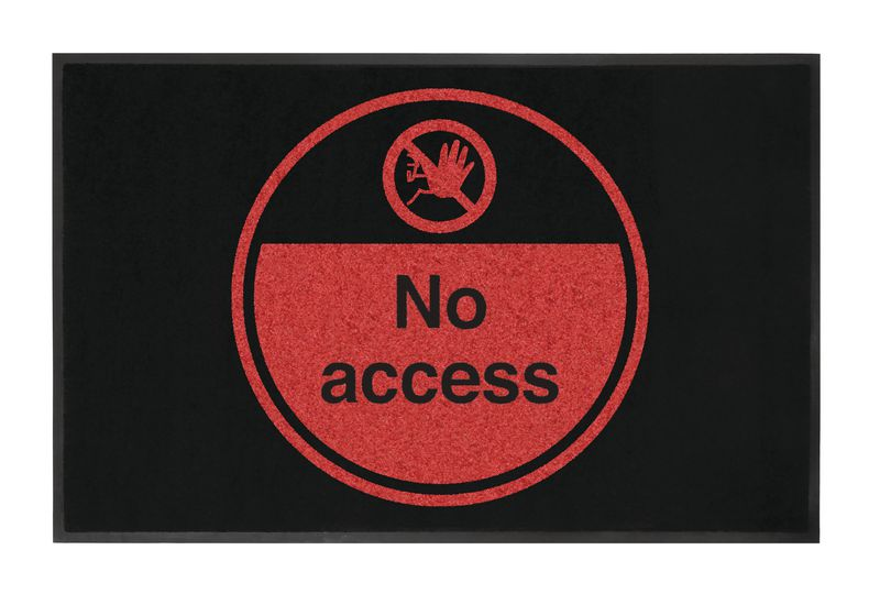 No Access Highly Visible Mats