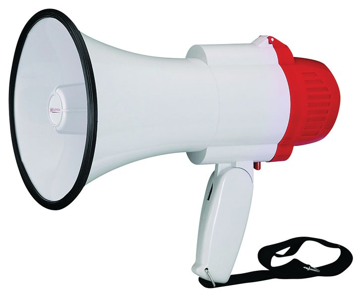 Mini Megaphone with Folding Hand Grip
