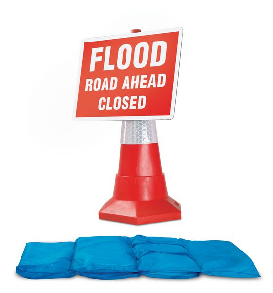 Hydrosack and Traffic Sign Flood Kit