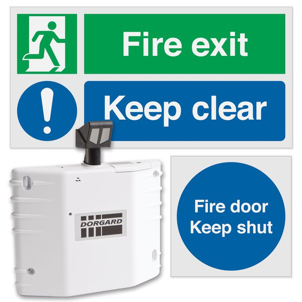 Dorgard™ Fire Door Retainer & Signage Bundle Kit