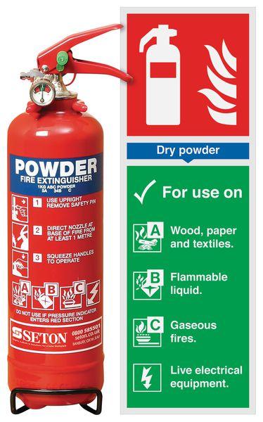 ABC Powder Extinguisher & Instruction Sign Bundle