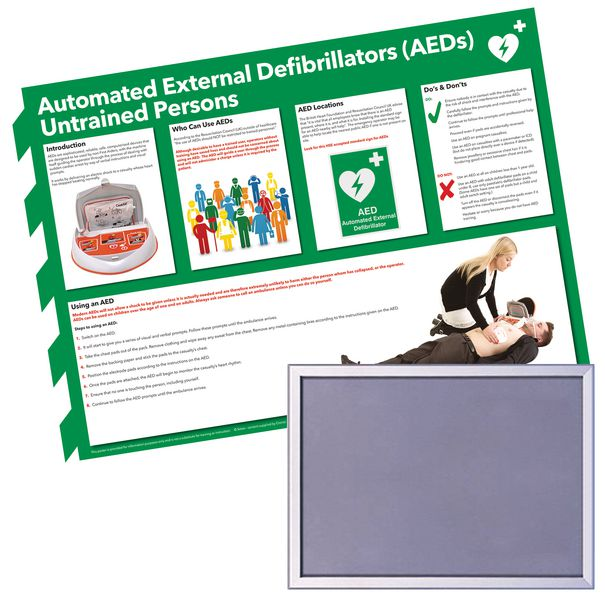 Snap Frame & AED Guidance Poster Bundle