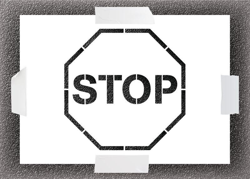 Reusable Stencil - Stop Symbol
