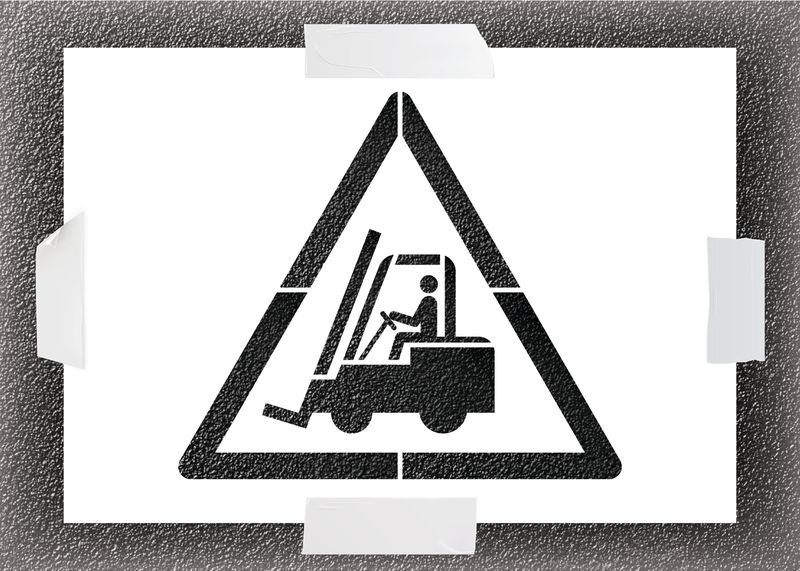 Reusable Stencil - Forklift Truck Symbol