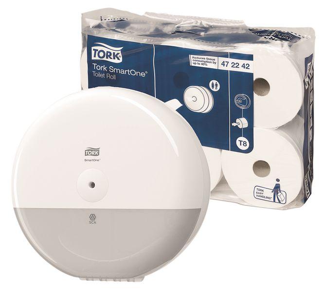 Tork® Smart One Toilet Tissue & FREE Dispenser