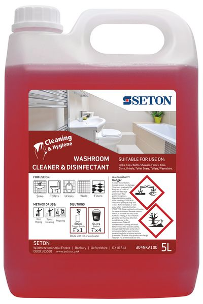 Seton Sanitary Washroom Cleaner and Disinfectant