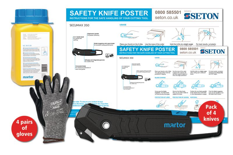 Martor SECUMAX 350 Safety Knife Poster Bundles