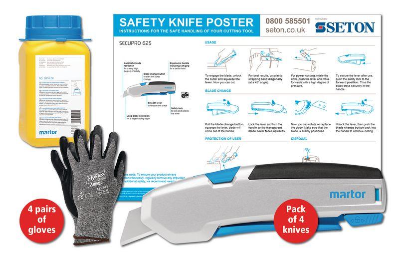 Martor SECUPRO 625 Safety Knife Poster Bundles