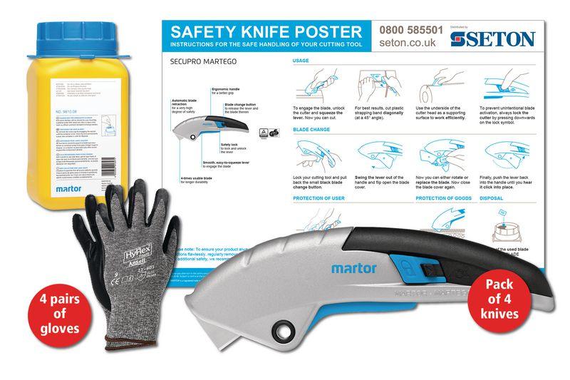 Martor SECUPRO Martego Safety Knife Poster Bundles