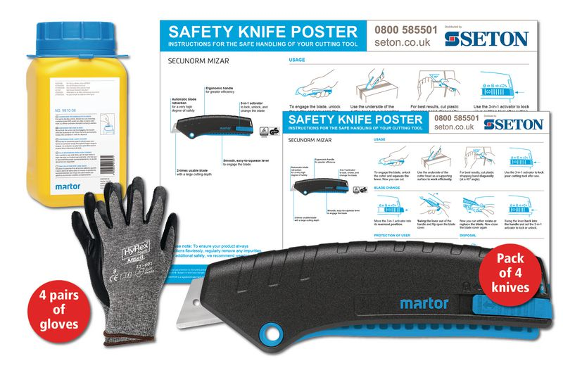 Martor SECUNORM Mizar Safety Knife Poster Bundles