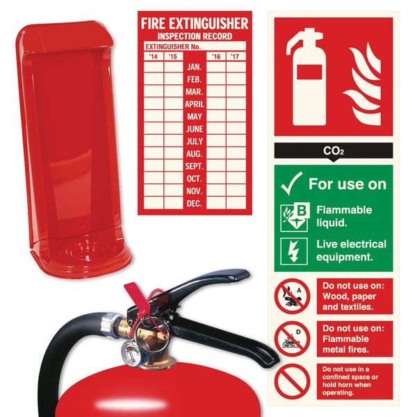 Fire Extinguisher Stand and Sign Bundle Kits