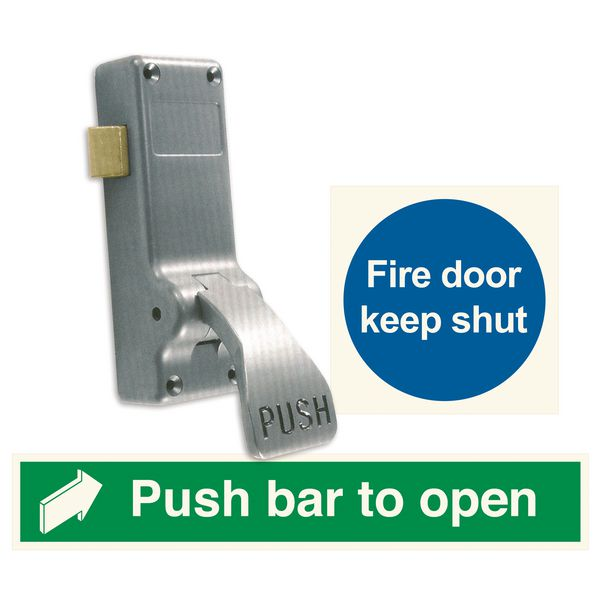 Panic Push-Pad & Signs Kit