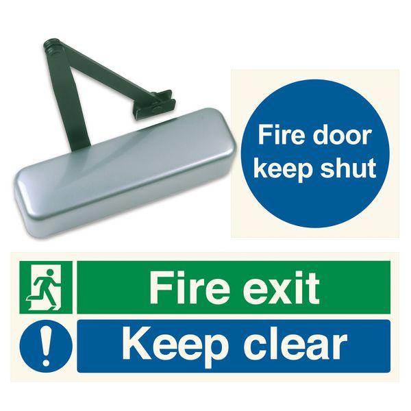 Adjustable Door Closer & Sign Kit