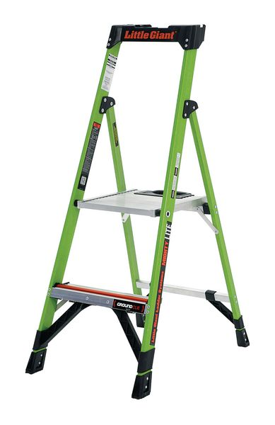 Little Giant MightyLite Fibreglass Hi-Viz Stepladder