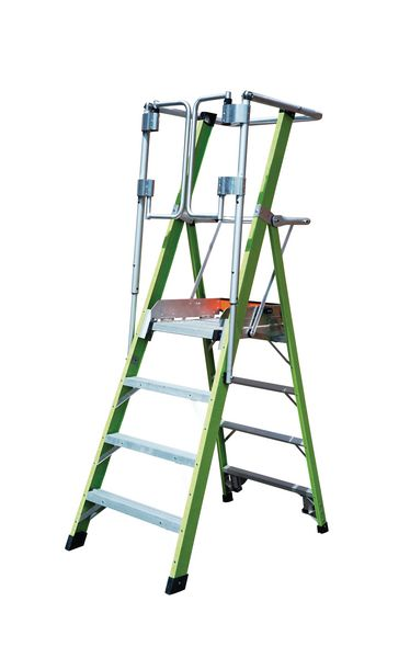 Little Giant Hi-Viz Safety Cage Stepladder