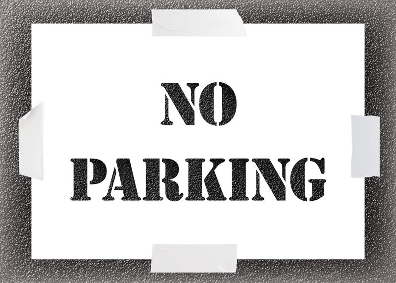 Reusable Stencil - No Parking