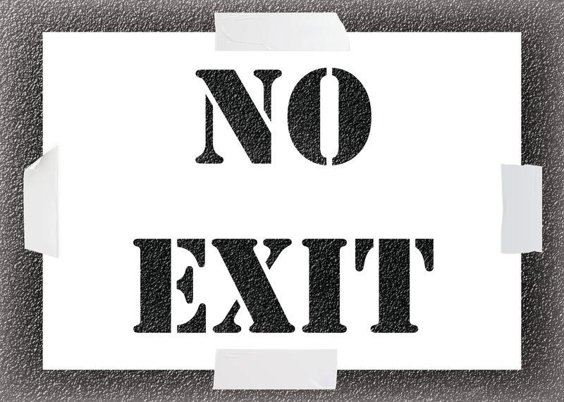 Reusable Stencil - No Exit