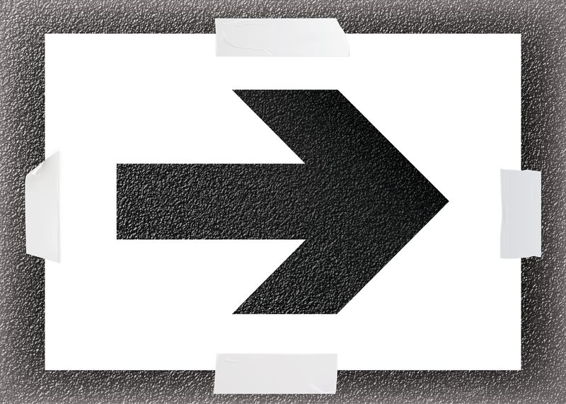 Reusable Stencil - Arrow