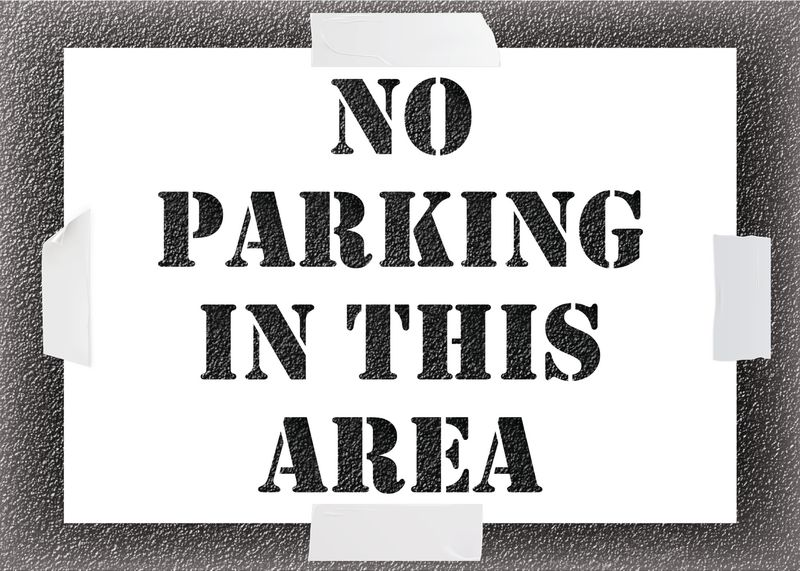 Reusable Stencil - No Parking In This Area