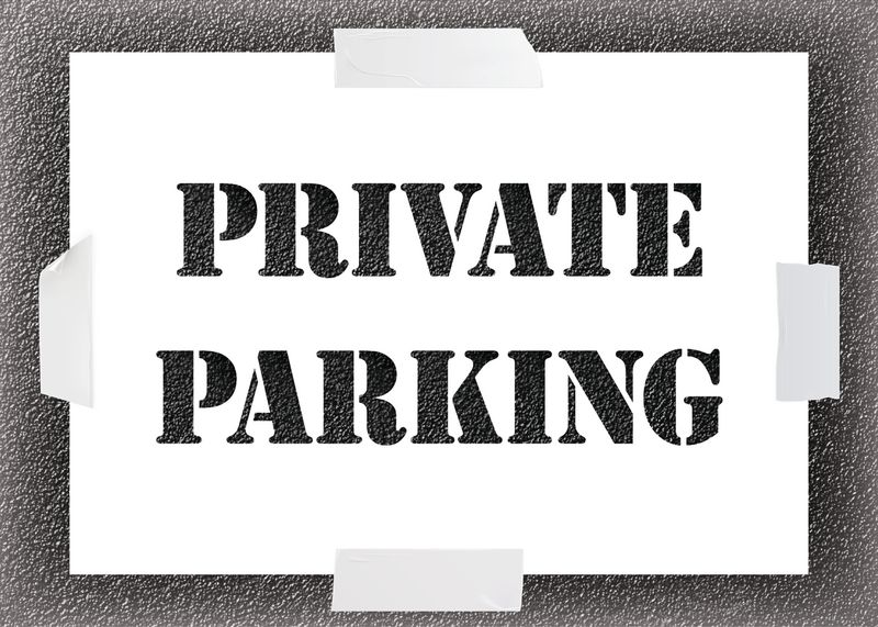 Reusable Stencil Private Parking Seton Uk