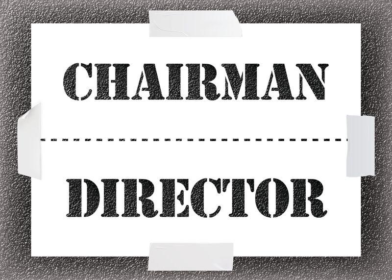 Reusable Stencil - Chairman/Director