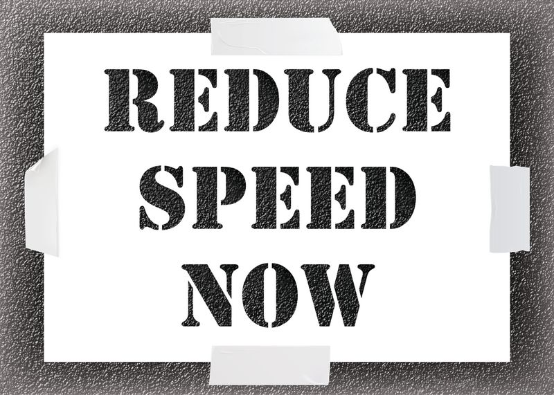 Reusable Stencil - Reduce Speed Now
