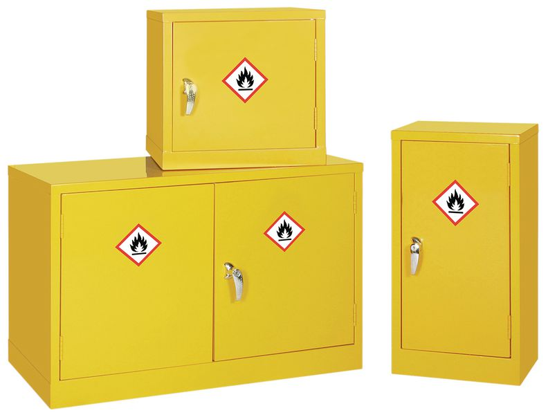 Mini Dangerous & Flammable Substance COSHH Storage Cabinets   Seton UK