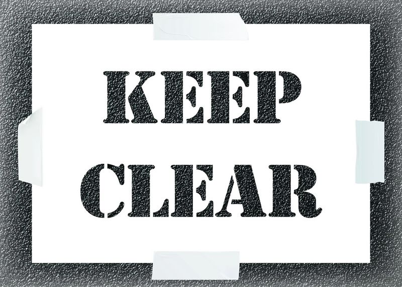 Reusable Stencil - Keep Clear