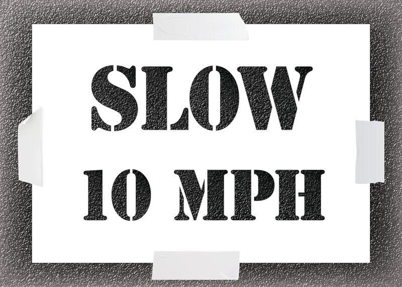 Reusable Stencil - Slow 10MPH