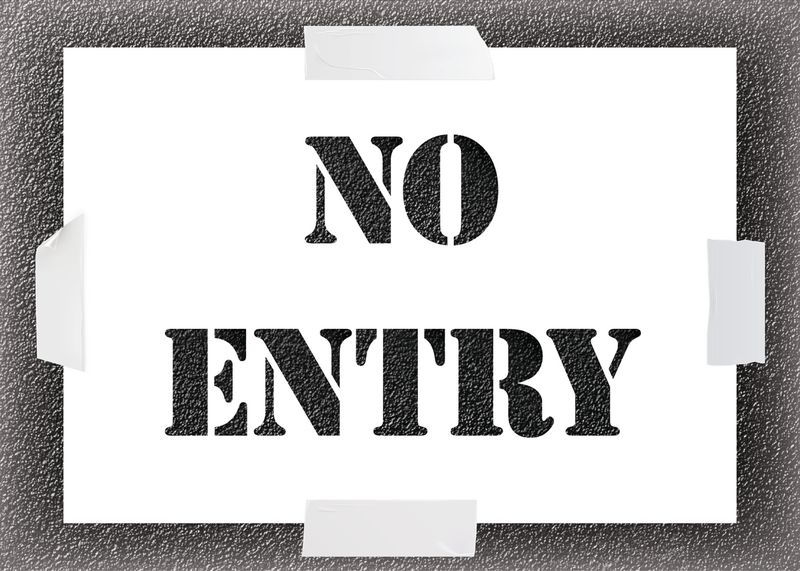 Reusable Stencil - No Entry