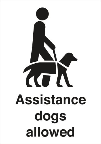 Assistance Dogs Allowed Signs