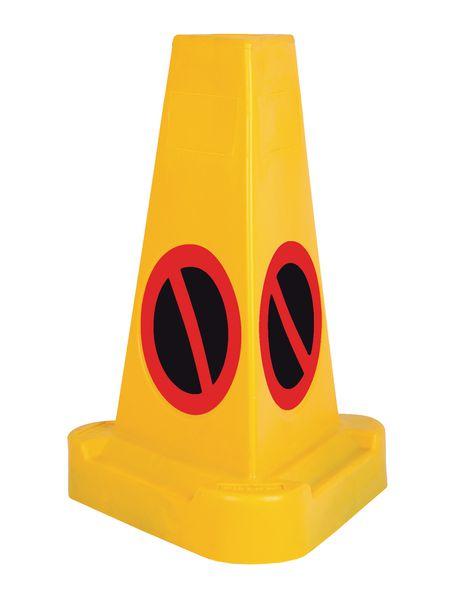 Triangular No Waiting Traffic Cone