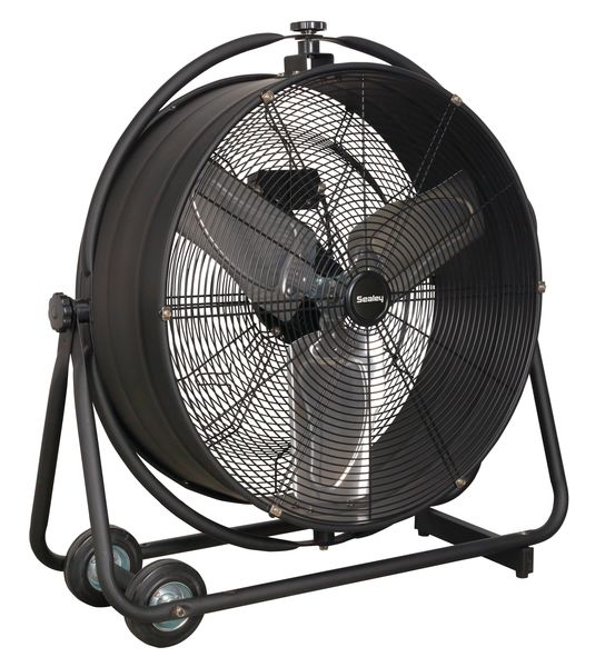 "24"" High Velocity Air Flow Drum Fan"