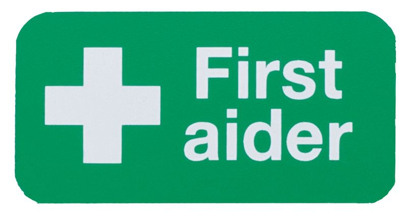 First Aider Safety Badge - Rectangle