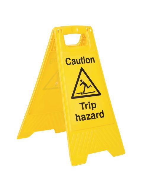 Economy Floor Stands - Caution Trip Hazard