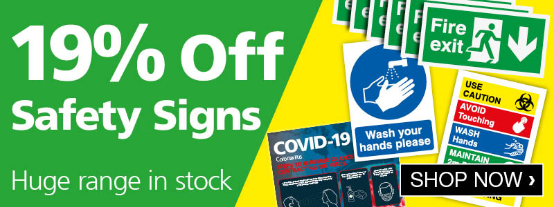 19% off Safety Signs