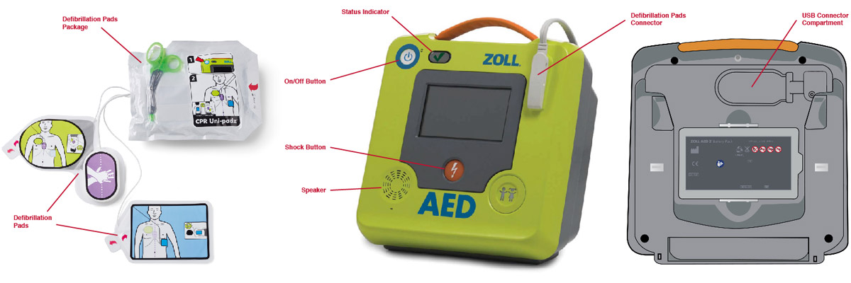 Essential elements of an AED
