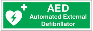 Sign for an AED