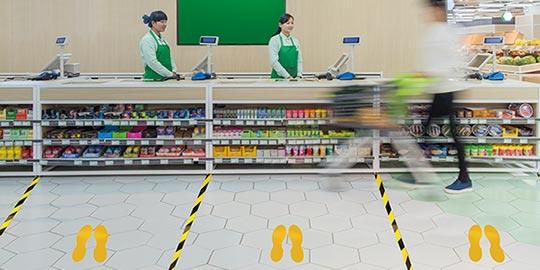 Queue Management in Times of Coronavirus - Supermarket