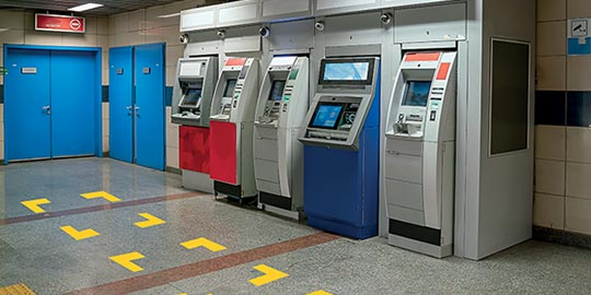 Queue Management in Times of Coronavirus - Cash / Ticket Withdrawal