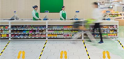 Social Distancing Supermarket